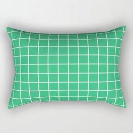 Green grid pattern Rectangular Pillow