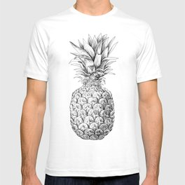Pineapple, tropical fruit illustration T-shirt