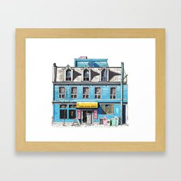 Global Village Backpackers Framed Art Print