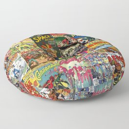 Comic Book Collage II Floor Pillow
