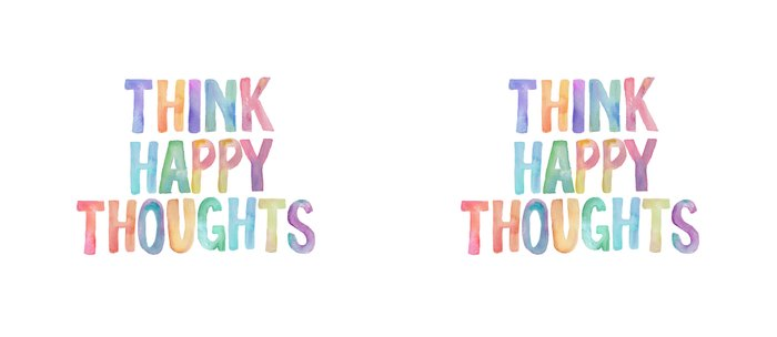 Think Happy Thoughts, Nursery Wall Art Kids Room, Nursery Printables, Baby  Girl Nursery