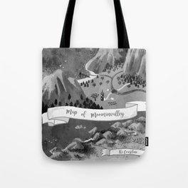 Moominvalley Map interpretation (Black & White) Tote Bag