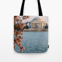 Cherry Blossoms at the Jefferson Tote Bag
