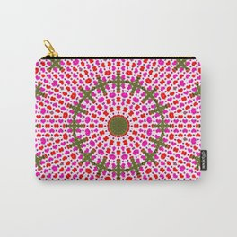 Pink and Green Alien Mandala Pattern Carry-All Pouch