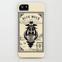 BLCK MGCK iPhone Case