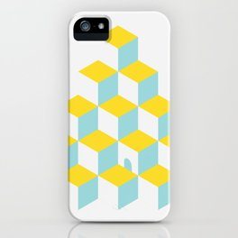 Cubes with Doorway ~ limpet shell blue iPhone Case