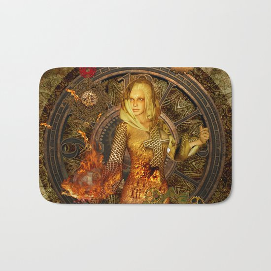 Wonderful steampunk lady Bath Mat