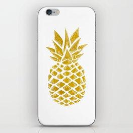 Gold Pineapple iPhone Skin