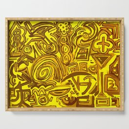 Yellow symbols Serving Tray