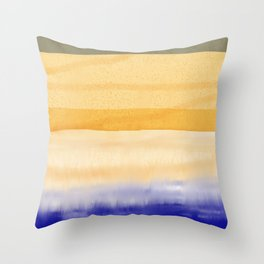 Brush Strokes Art, Watercolor, Color Theory Home Accessories Throw Pillow