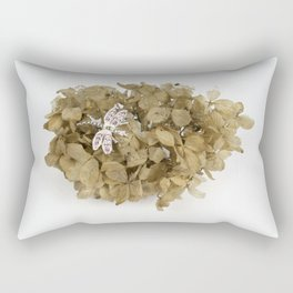 Dragonfly on Dried Flowers Rectangular Pillow