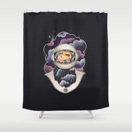 Galaxy Beard Shower Curtain
