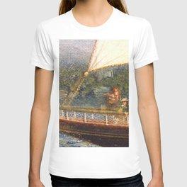 A Newport Ride - America's Cup - Narragansett Bay, Rhode Island by James Gale Tyler T-shirt