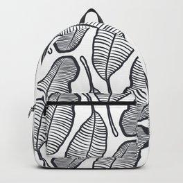 hand drawing Banana Leaf pattern Backpack
