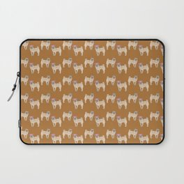 cute little pug dogs girl and boy pattern Laptop Sleeve
