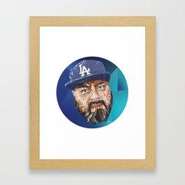 Low Poly DTM Framed Art Print
