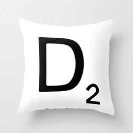 Letter D - Custom Scrabble Letter Wall Art - Scrabble D Throw Pillow