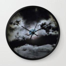 Blue Moon I Wonder Wall Clock