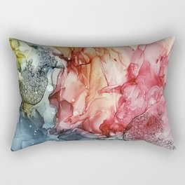 Alcohol ink painting, Abstract painting Rectangular Pillow