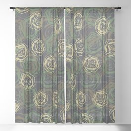 Rose Camo WOODLAND Sheer Curtain