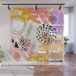 Abstract autumn pattern. Wall Mural