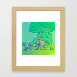 Mixing Bear Framed Art Print
