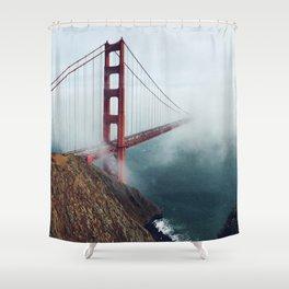 Amazing San Francisco Golden Gate Bridge In Heavy Fog Ultra HD Shower Curtain