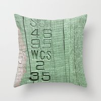 code Throw Pillows featuring Code  by Ethna Gillespie