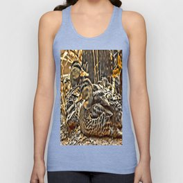Laying Mallards Unisex Tank Top