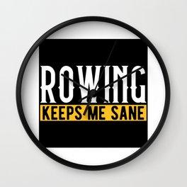 Rowing Rower Lovers Gift Idea Design Motif Wall Clock