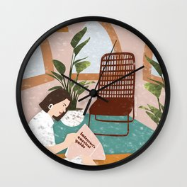 Introverts Survival Guide Wall Clock