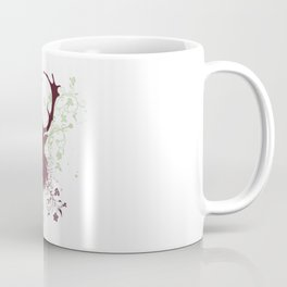 Grunge Stag with floral Coffee Mug