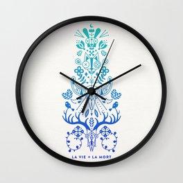 La Vie & La Mort – Blue Ombré Wall Clock