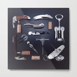 corkscrews flatlay Metal Print