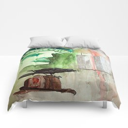Blood Stained America Comforters