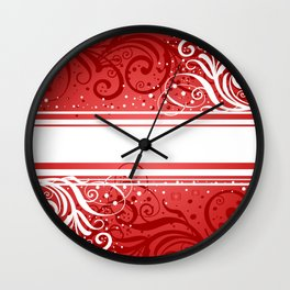 Abstract red-white background Wall Clock