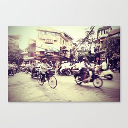 streets of hanoi Canvas Print