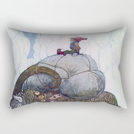 """The Julbock"" Christmas Goat by John Bauer Rectangular Pillow"