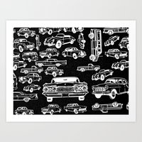 cars Art Prints featuring Cars by liberthine01