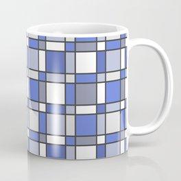 Blue Hue Checkers Coffee Mug