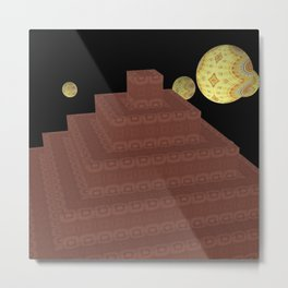 Pyramide Grotesque 25 Metal Print