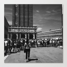 Visiting St Mark's Basilica Canvas Print