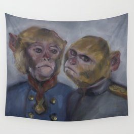 Monkey brothers Wall Tapestry