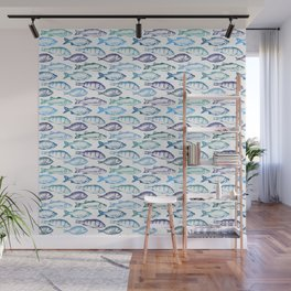 Blue Fish Wall Mural