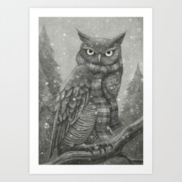 Winter Owl Art Print