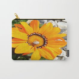 Bright Orange Gazania Flower with Snail Carry-All Pouch