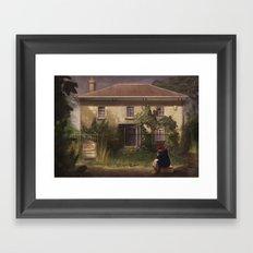 The Girl Who Waited Framed Art Print