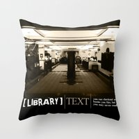 library Throw Pillows featuring Library by Phil Perkins