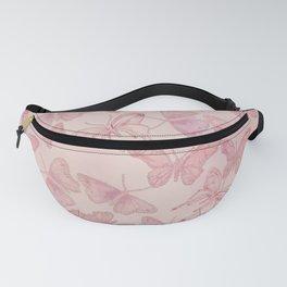 Butterfly Pattern soft pink pastel Fanny Pack