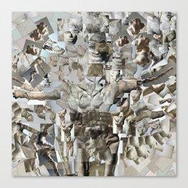 Leap - Sculpture Collage Photomontage Canvas Print